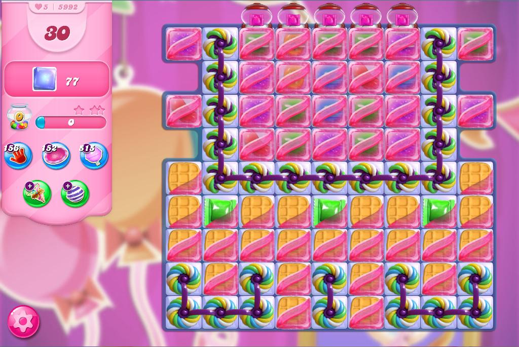 Candy Crush Saga level 5992