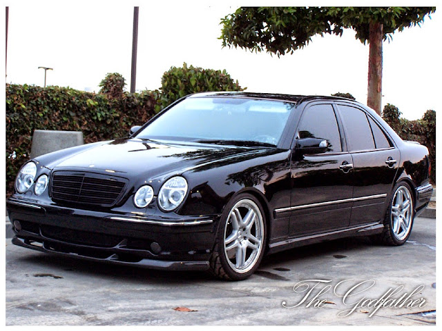 mercedes benz e55 amg w210 black benztuning. Black Bedroom Furniture Sets. Home Design Ideas