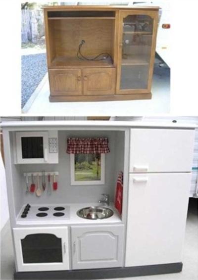 Dapur dalam lemari versi modifikasi