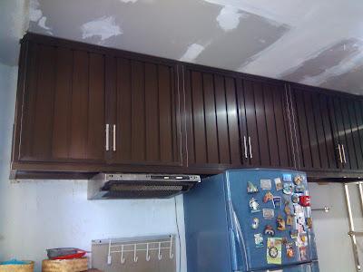 Kitchen set alumunium pemasangan di perumahan griya asri depok