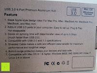 Information: Ubegood USB 3.0 4-Port Kompakt Aluminium Nabe mit 2-Fuß USB 3.0 Kabel für Iphone 6 5s 5c 5, Ipad Air Mini, Galaxy S6 S5 S4, Note 4 3 2, the New HTC One (M9), Nexus and Andere Gerät Silber Kompatibel mit Mac OS 9.1 or Höher Windows 98SE/Me/2000/XP/Vista/7 Linux 2.4 or Höher