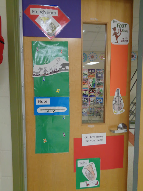 Dr. Seuss door decoration elementary band/orchestra