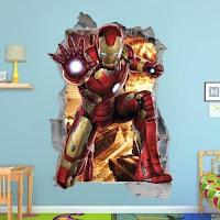 Vinilos de super héroes para decorar la habitación de los niños IRON MAN