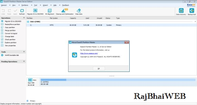 how to use easeus partition master to extend c drive