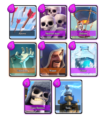 Clash Royale Deck Arena 6 (Tempo Skeletons)