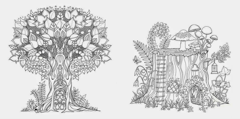 the enchanted forest coloring pages - photo #13