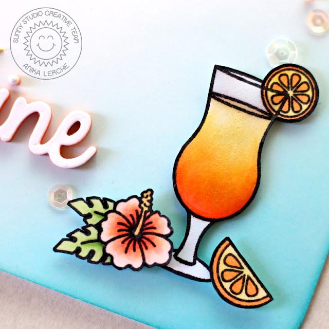 Sunny Studio Stamps: Tropical Paradise Sending You Sunshine Card by Anni Lerche.
