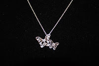 Avon Sterling Silver CZ Butterfly Necklace