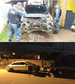 Guarda Municipal flagra desmanche de veículos em Gravataí (RS)