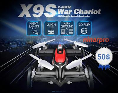 Syma X9s 4ch 6-axis RC - طائرة بدون طيار وسيارة quadcopter 3D التحكم عن بعد