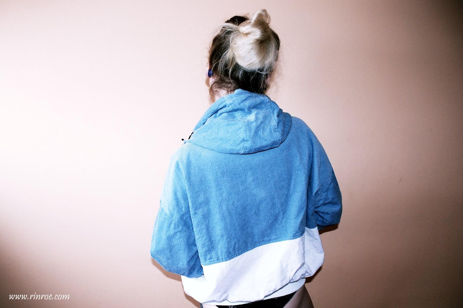 corduroy jacket Zaful wiosenna sztruksowa kurtka