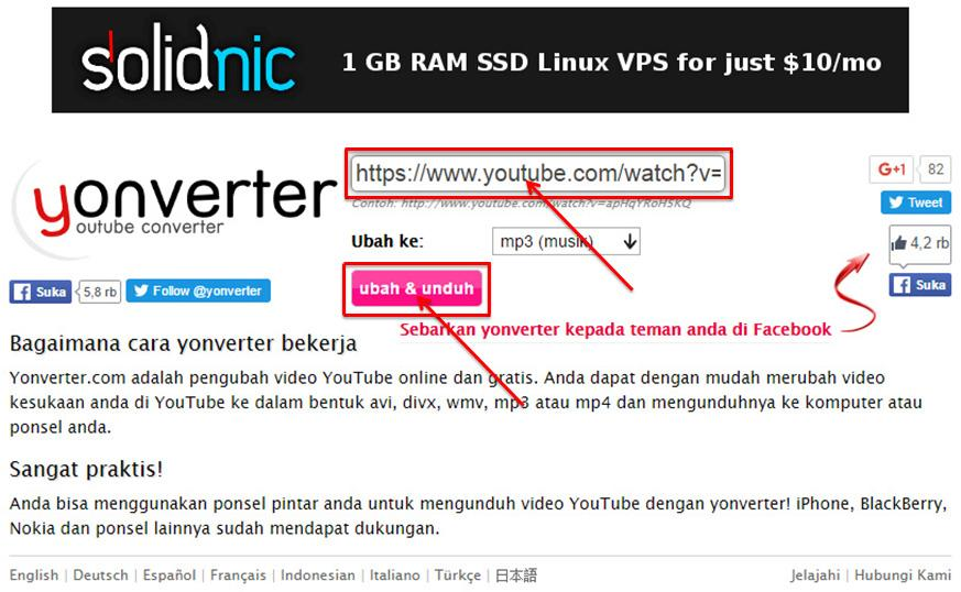 Cara Download Youtube dalam Format MP3