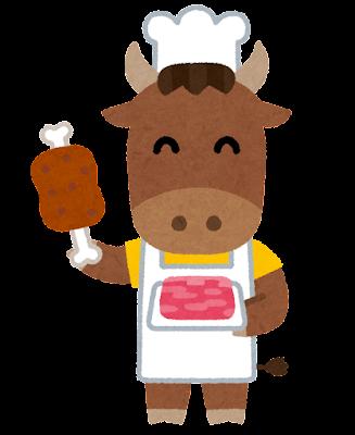 牛の肉屋のイラスト