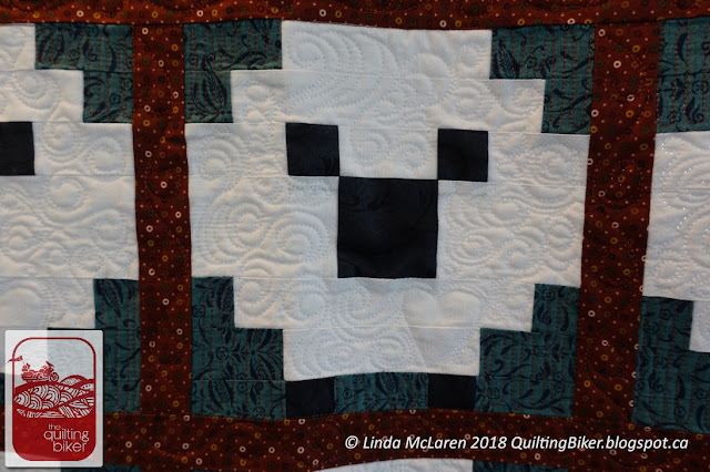 Client quilt - sheep closeup