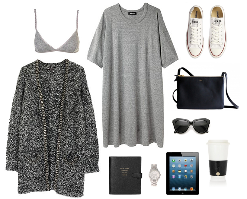marle grey boucle cardigan asos style outfit