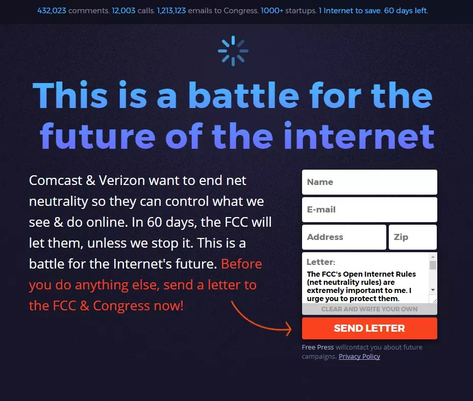 battleforthenet this is a battle for the future of the internet