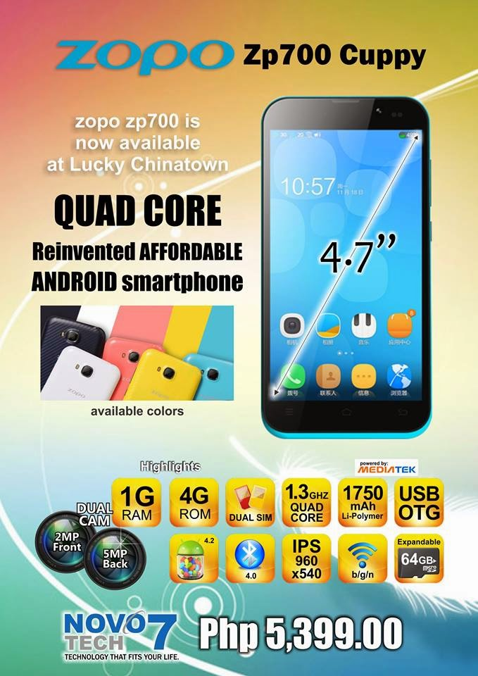 ZOPO ZP700: Quad-core Android Phones for Php5,399