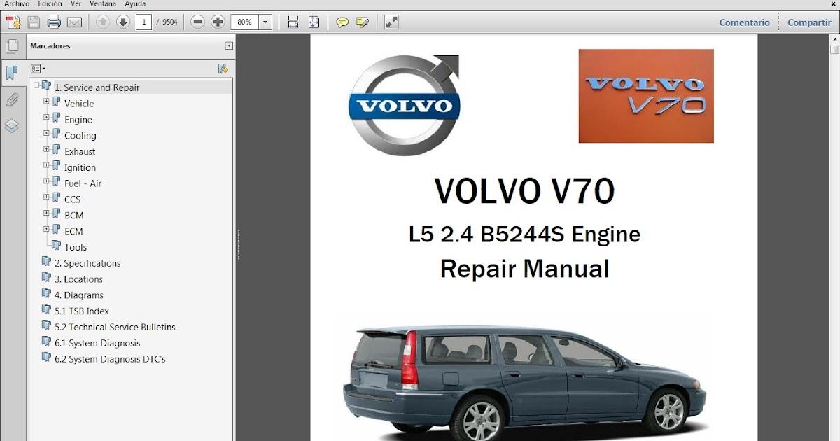 Manual De Taller Volvo V70 L5 24 B5244s Manuales. Manual De Taller Volvo V70 L5 24 B5244s Manuales. Volvo. Volvo Xc70 Exhaust Repair Diagrams At Scoala.co