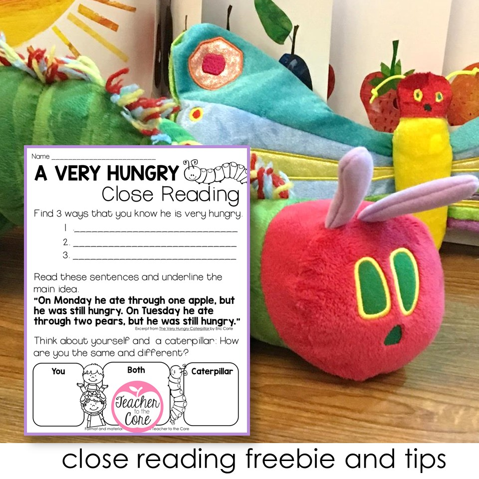 The Very Hungry Caterpillar- Close Reading- Gifted Resource
