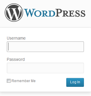 halaman login website wordpress anda