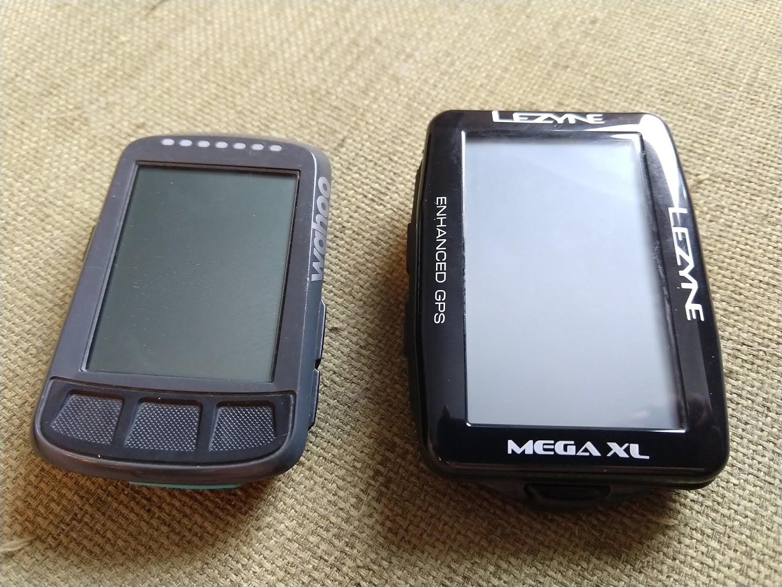 Lezyne Mega XL GPS vs Wahoo Elemnt Bolt