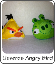 Llaveros de fieltro angry bird