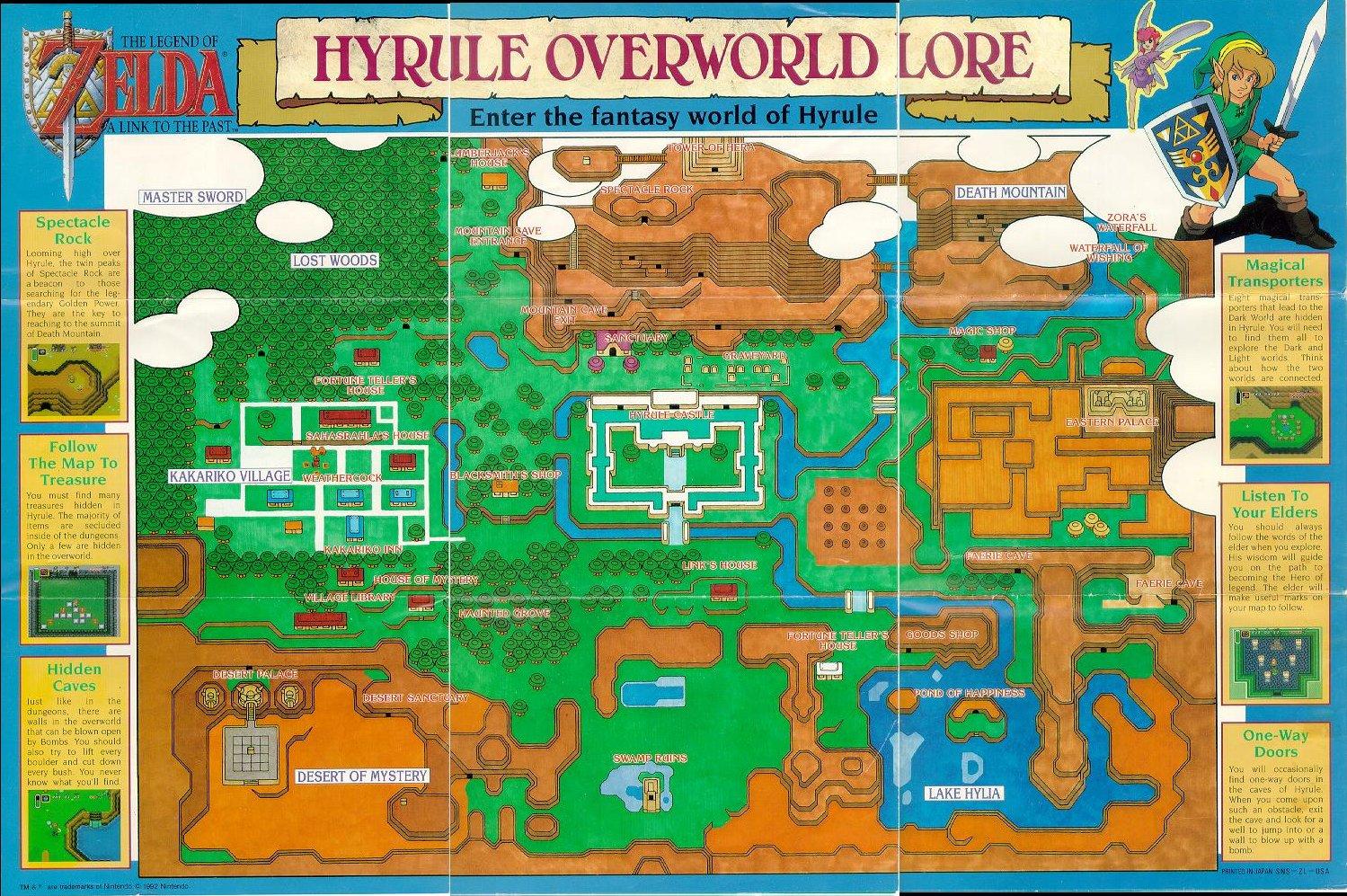 It's just a photo of Gargantuan Legend of Zelda Nes Map Labeled