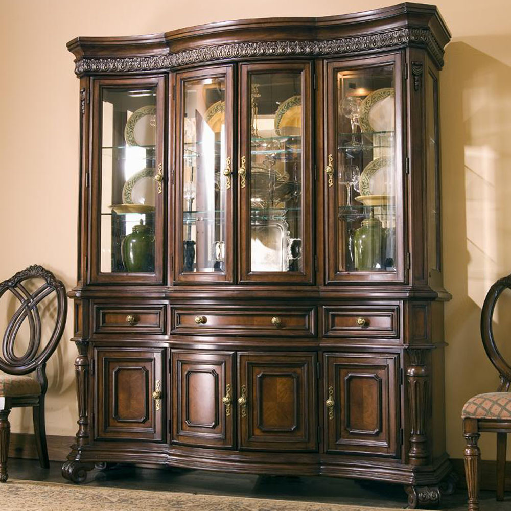 China cabinet designs bahay ofw for Dining room cupboard designs