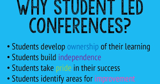 Let Kids Share with Student Led Conferences
