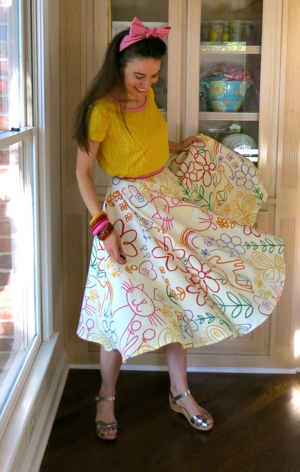 DIY The Oodles Of Doodles Shower Curtain Skirt
