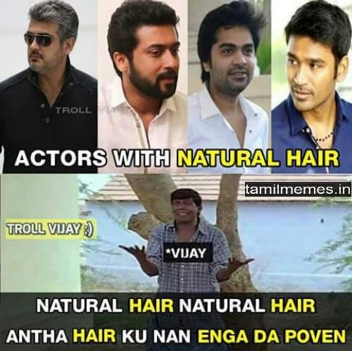 vijay worst hairstyle bhairava memes img actor thalapathy vijay mersal movie memes tamil actor vijay