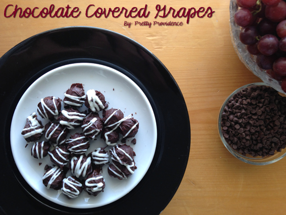 How to Make Chocolate Covered Grapes {www.prettyprovidence.com}