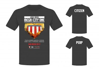 San Diego Comic-Con 2017 Exclusive Judge Dredd Mega-City One TV Series T-Shirts by 2000 AD