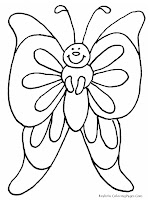 Printable Butterfly Kids Coloring Sheet