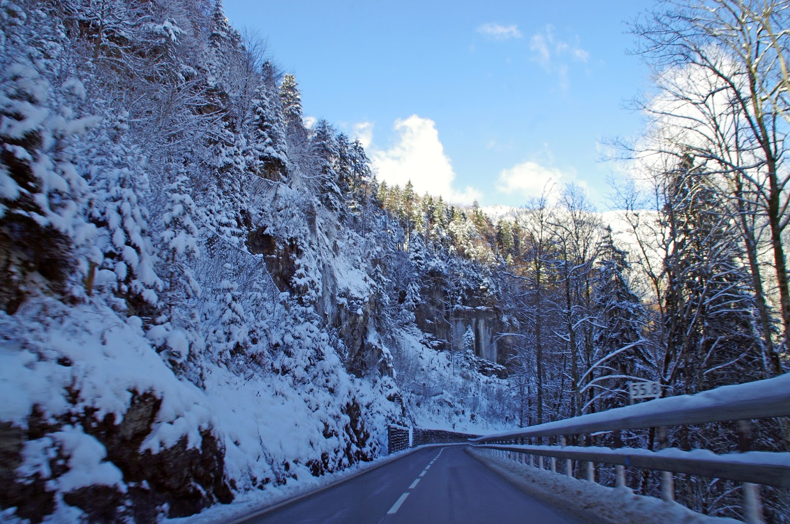 Driving in Switzerland Winter