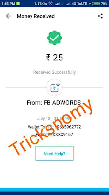 Fbadwords paytm proof