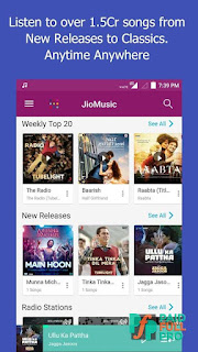 JioMusic HD Music And Radio Mod APK