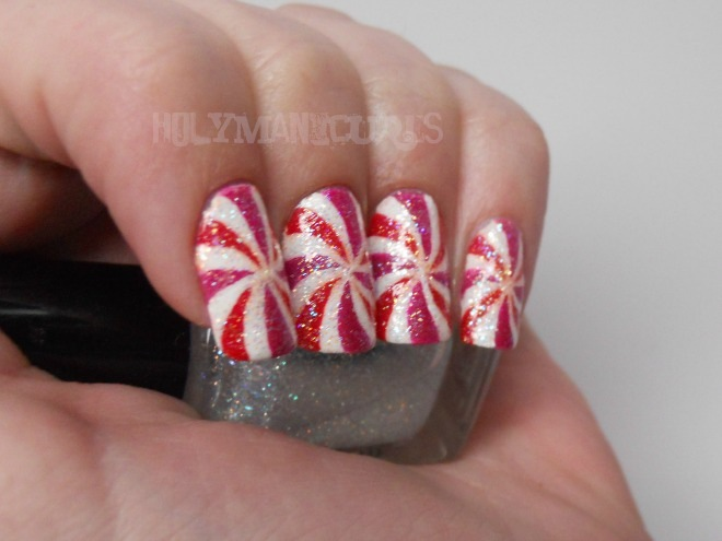 Holy Manicures: Peppermint Swirl Nails.