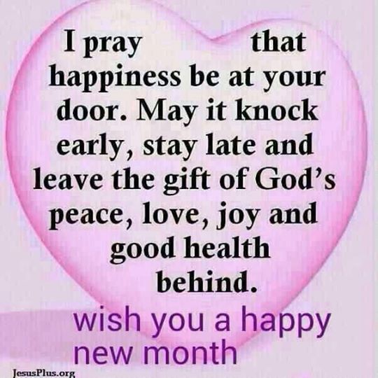 Happy New Month Everyone!