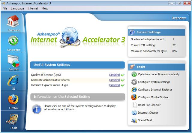 تحميل برنامج تسريع وسحب سرعة الانترنت Internet Accelerator مجانا