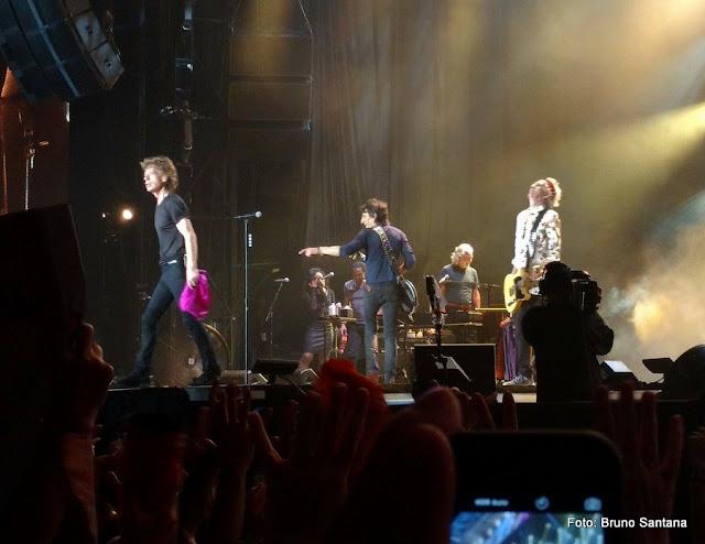 Mick Jagger no palco do Maracanã, show dos Rolling Stones no Rio, em 2016