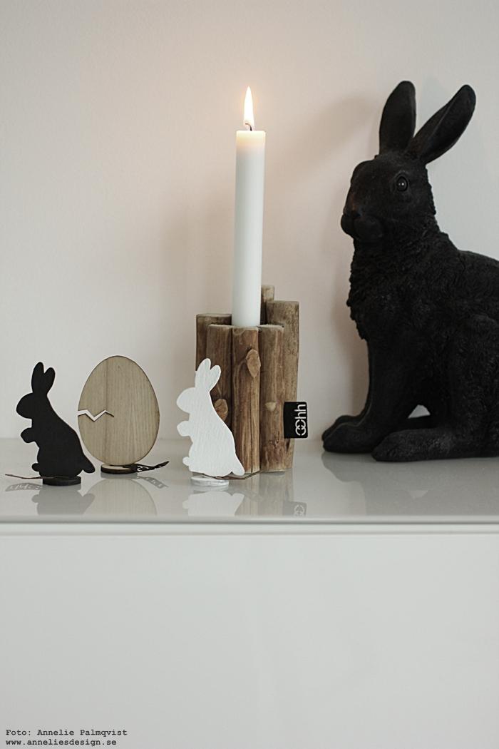 annelies design. webbutik, webshop, nätbutik, kanin, kaniner, hare, påsk, påsken, påskpynt, påsken 2017, Oohh, set, ljusstake, ljusstakar, stilren, stilrent,