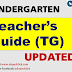 TEACHER'S GUIDE (TG) for KINDERGARTEN K-12 UPDATED!!