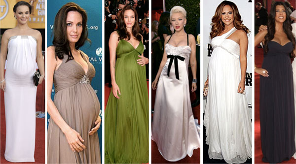 Vestidos de fiesta para mujeres en embarazo