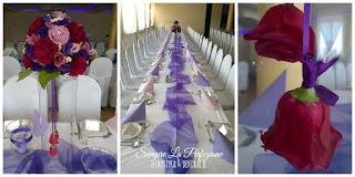 Weselna dekoracja sali z róż