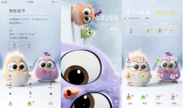 Cute Bird Cartoon Theme For Vivo Smartphone