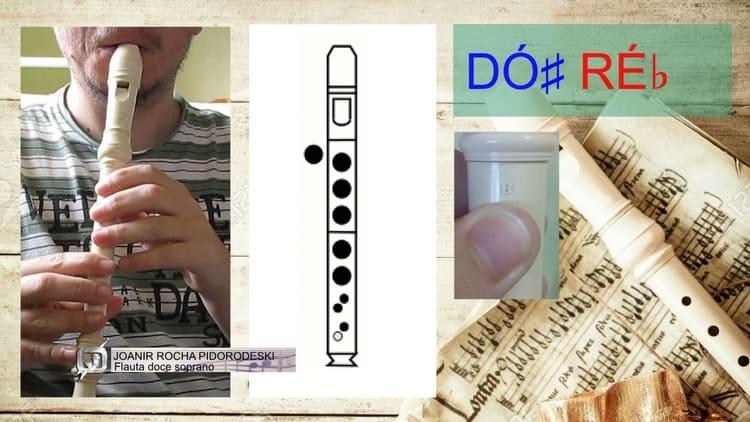 Dó# ou Réb - Flauta doce soprano germânica