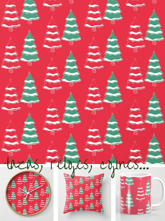 prints, patterns and homedecor, christmas trees