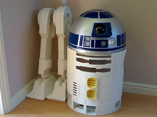 Stu b one 39 s r2d2 build cardboard skin for R2d2 leg template