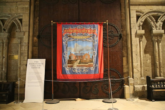 Colliery miner's banner, Durham Cathedral, Pic:Kerstin Rodgers/msmarmitelover.com
